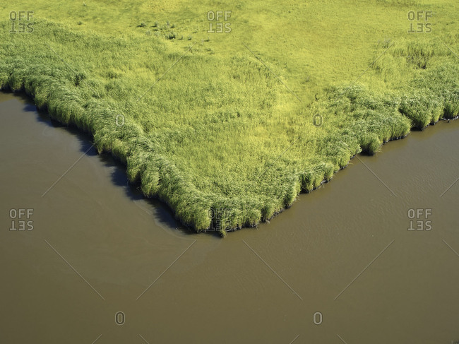 Aerial view over marshes near Elliot Island- Maryland- USA