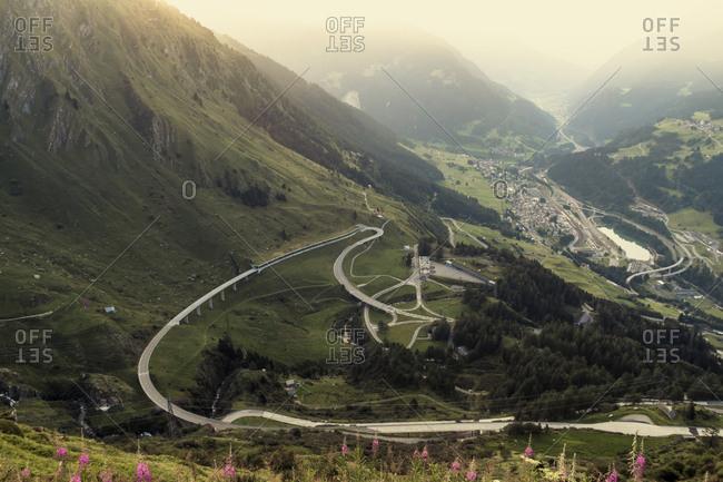 Switzerland- Ticino- Tremola- Gotthard Pass road
