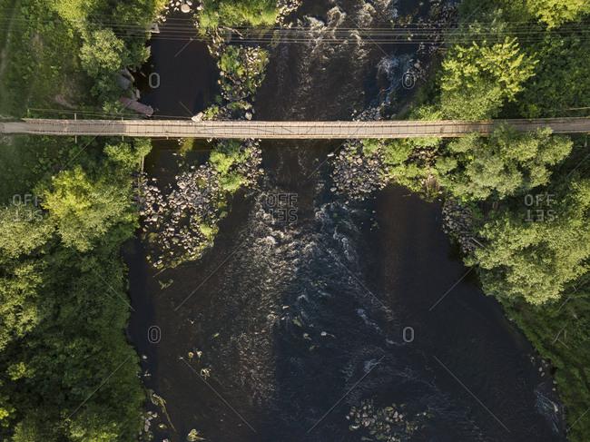 Suspension bridge over Tikhvinka river- Tikhvin- Russia