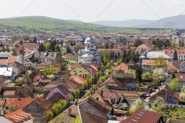 April 14, 2018: Rumania- Bistrita- townscape