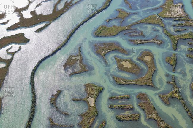 Spain- Andalusia- Bahia de Cadiz Natural Park- aerial view