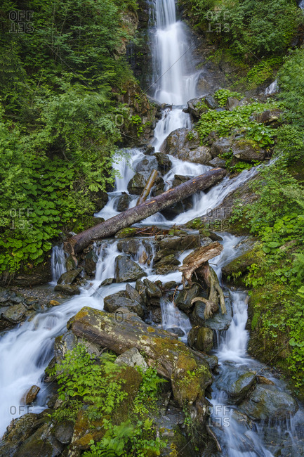 Waterfall at the Zillertaler mountain road- Kaltenbach- Ziller valley- Tyrol- Austria