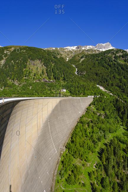 Dam wall at Schlegeis reservoir- Zillertal Alps- Ziller valley- Tyrol- Austria