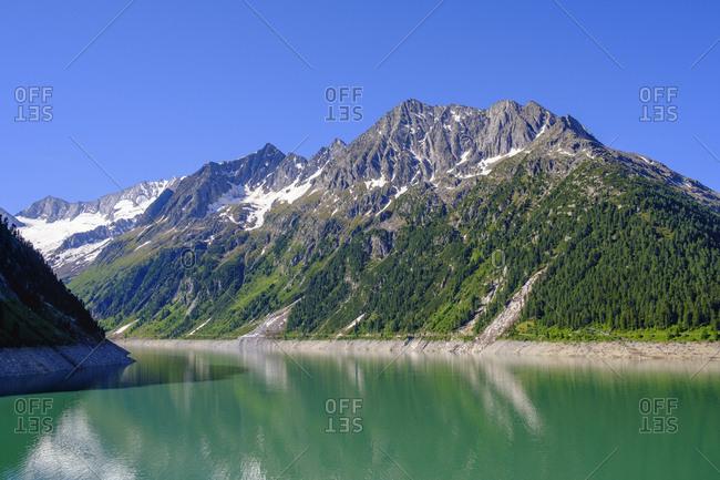 Schlegeis reservoir- Zillertal Alps- Ziller valley- Tyrol- Austria