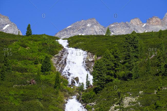Waterfall Unterschrammachbach- Zillertal Alps- Ziller valley- Tyrol- Austria