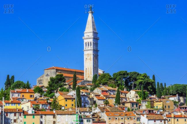 View to church of St. Euphemia- seaport Rovinj- Istria- Croatia
