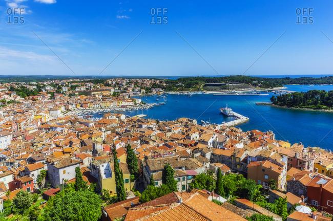 View over Rovinj from church of St. Euphemia- Istria- Croatia