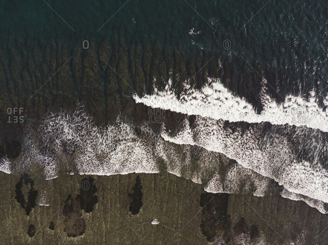 Aerial view of waves