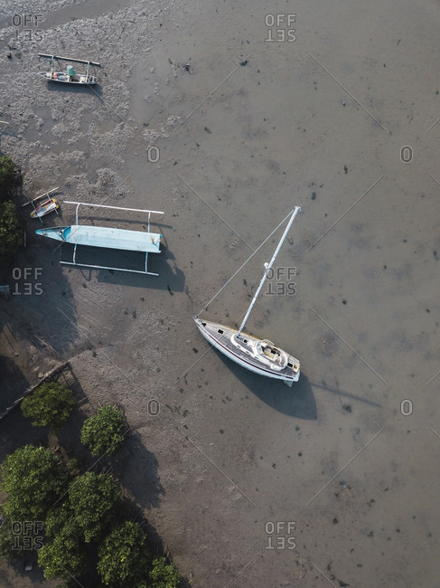 Aerial view of boats