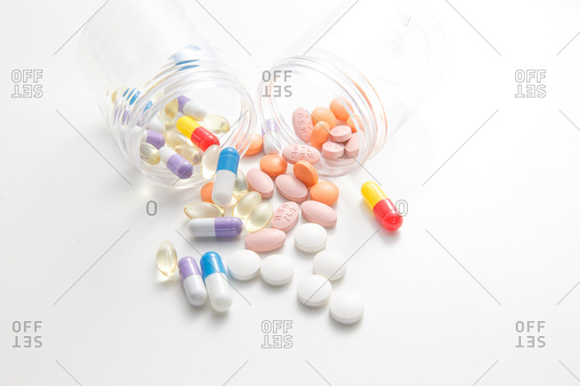 Drugs laid out on a table