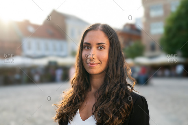 Portrait of a beautiful young businesswoman smiling