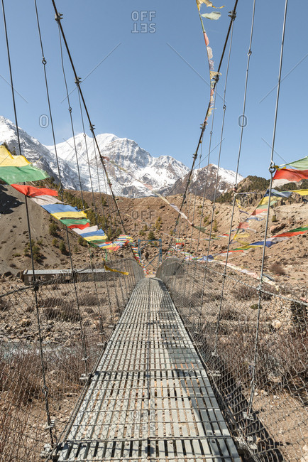 Nepali Prayer Flags on Bridge