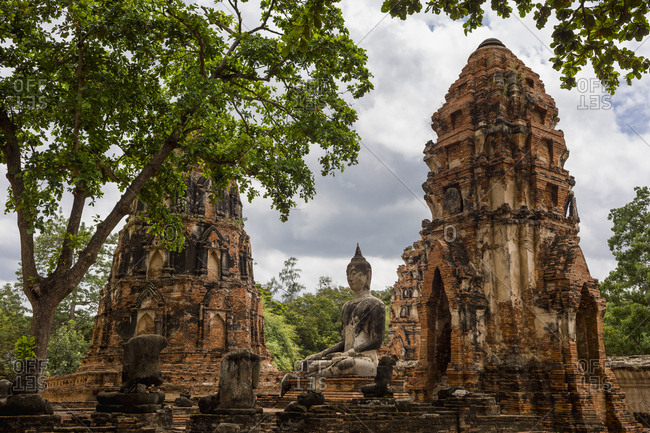 Ayutthaya Historical Park, the ancient city. Bangkok, Thailand