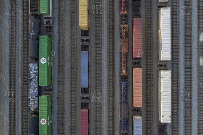 Atlanta, Georgia, USA - March 29, 2019: Railroad Cars, Atlanta, Georgia