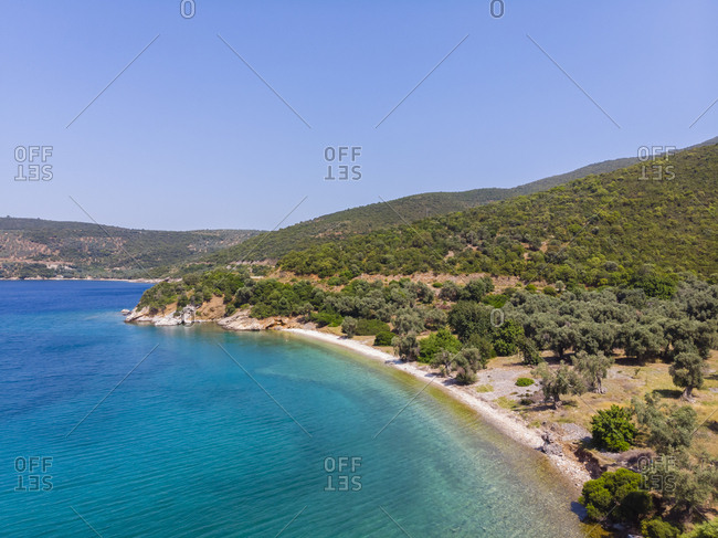 Greece- Aegean Sea- Pagasetic Gulf- Peninsula Pelion- beach of Kufala