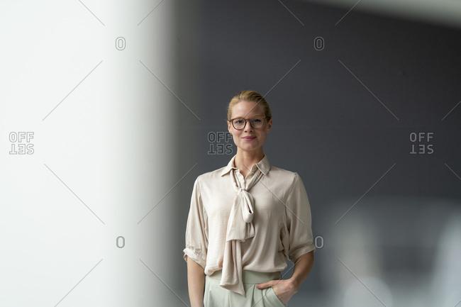 Portrait of confident young businesswoman