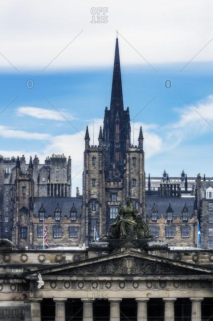 UK- Scotland- Edinburgh- view to the city
