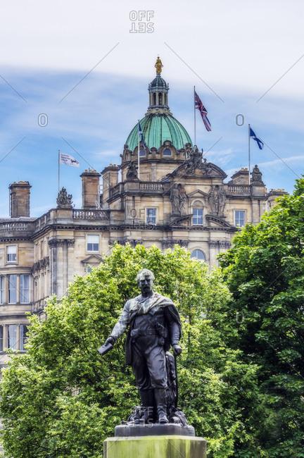 June 26, 2018: UK- Scotland- Edinburgh- statue of David Livingstone
