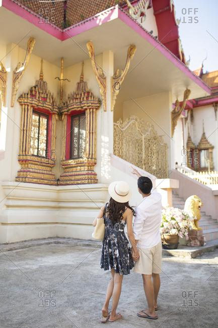Young Chinese couple on vacation in Thailand