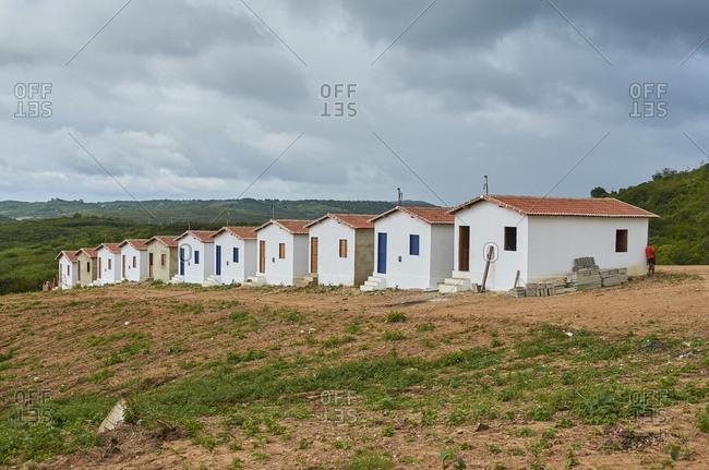 Popular houses built in the Serido region, Rio Grande do Norte, Brazil