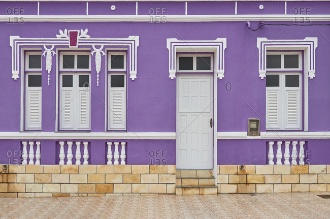 Home with purple exterior, Serra Negra do Oeste, Rio Grande do Norte, Brazil