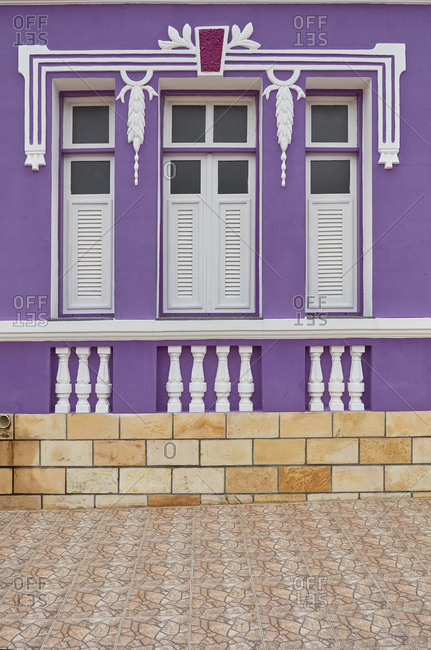 Home with purple facade, Serra Negra do Oeste, Rio Grande do Norte, Brazil