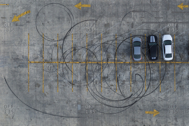 Parking Lot, Tire Marks, Atlanta, Georgia