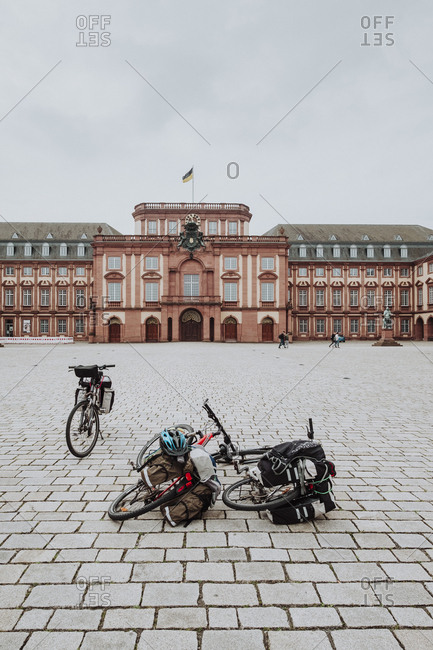 Bikes in Mannheim Palace, Germany