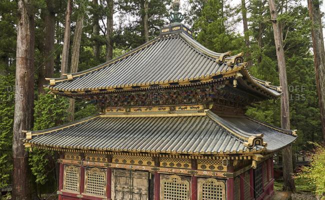 Nikko Toshogu Shrine temple in Nikko at spring, Japan