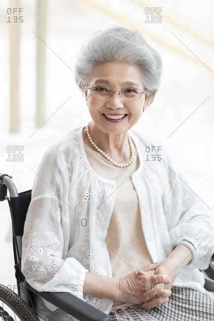 Senior Chinese woman in nursing home