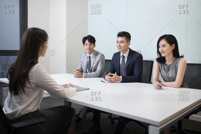 Woman at Job interview - Offset