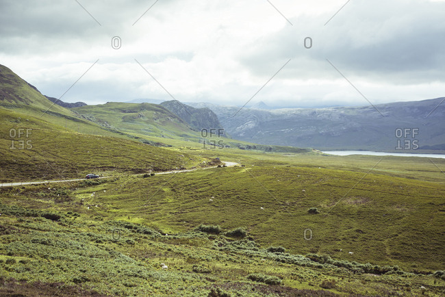 Road winds through remote mountains