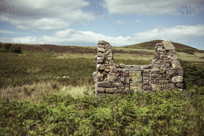 Old ruins on remote island in north west Scotland