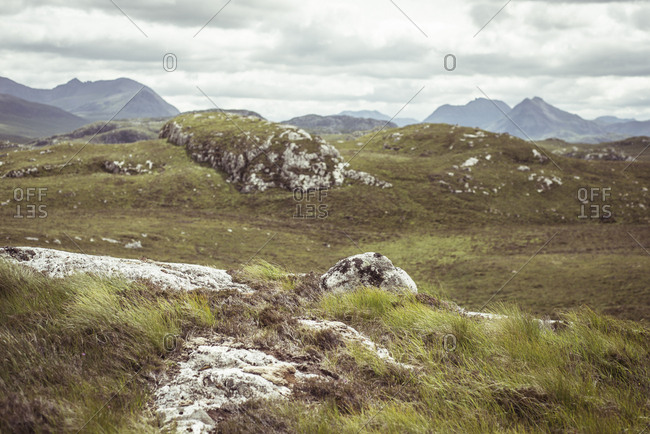 Scottish wilderness rugged landscape in highlands
