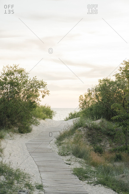 Boardwalk to the beach- Liepaja- Latvia