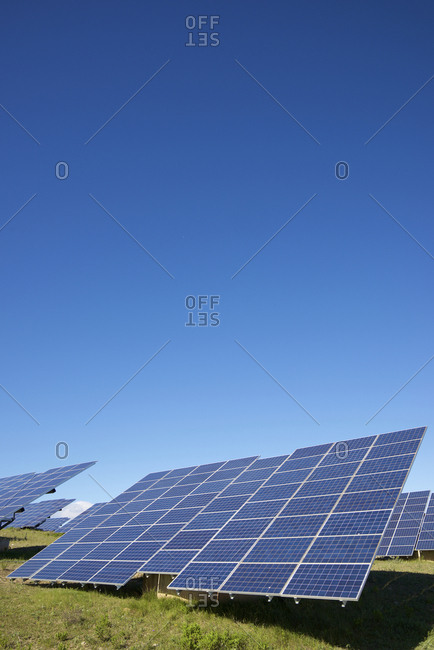 Photovoltaic panels for renewable electric production in Navarra, Spain.