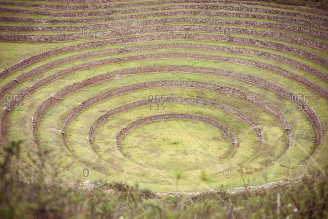 archaeological Inca ruins sight, Moray