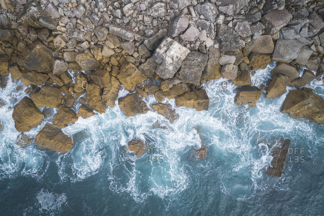 Cascais cliffs and coast from aerial view