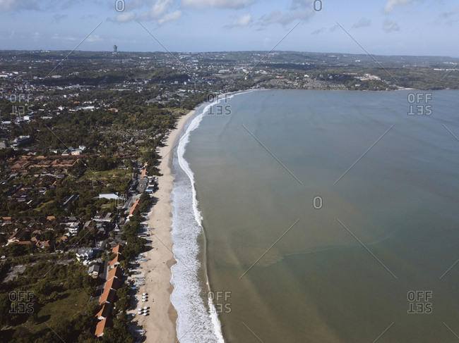 Elevated view of Jimbaran beach, Bali, Indonesia