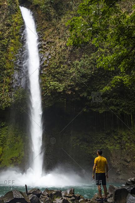Traveller visiting La Fortuna Waterfall- La Fortuna- Costa Rica