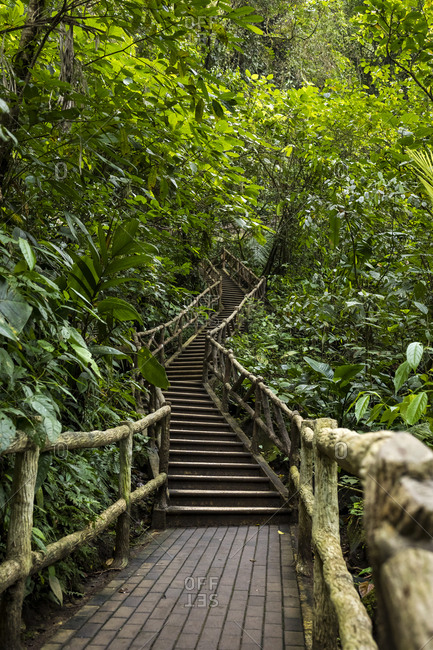 Stairs at La Fortuna Waterfall- La Fortuna- Costa Rica