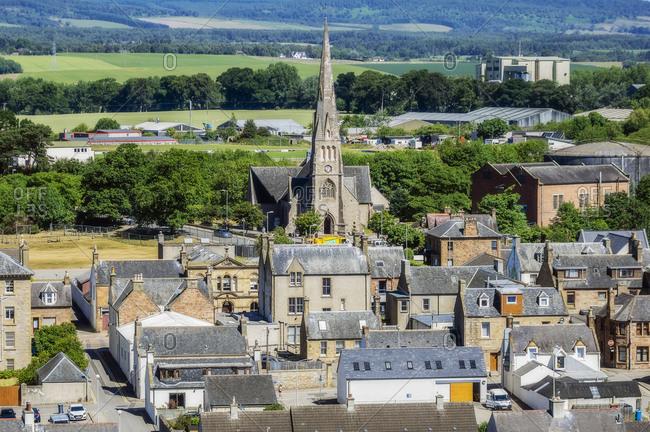 United Kingdom- Scotland- Invergordon- city view