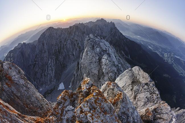 View from Ellmauer Halt at sunrise- Wilder Kaiser- Ellmauer Halt- Tyrol- Austria