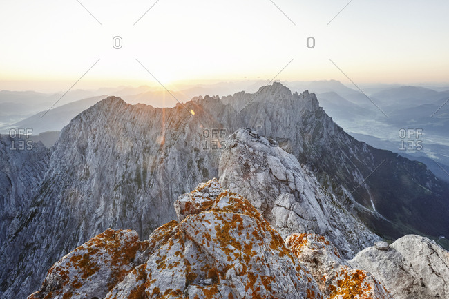 View from Ellmauer Halt at sunrise- Wilder Kaiser- Ellmauer Halt- Tyrol- Austria