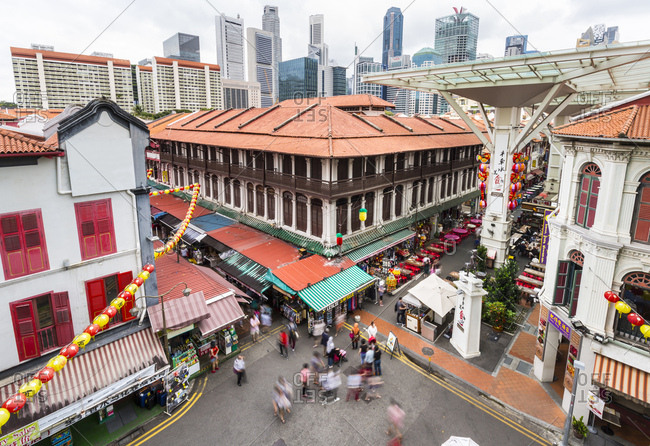 February 18, 2017: Chinatown market and food courts- Singapore
