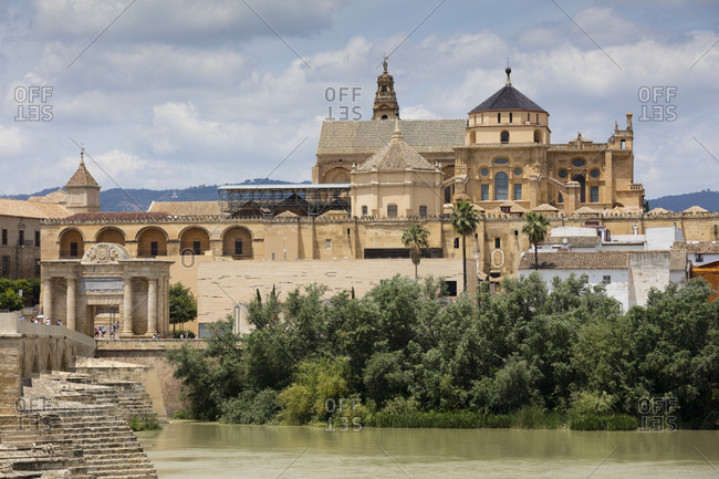 June 7, 2018: Spain- Andalusia- Cordoba- Mosque Cathedral- Puerto del Puente