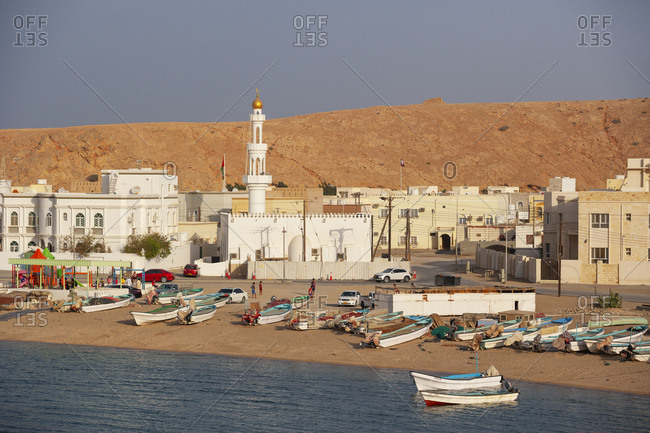 February 28, 2019: View to Mosque in Sur- Oman