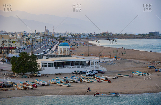 February 28, 2019: Beach in the evening- Sur- Oman