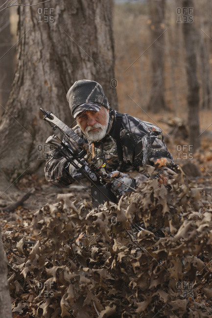 Bowhunter Hunting Big Game