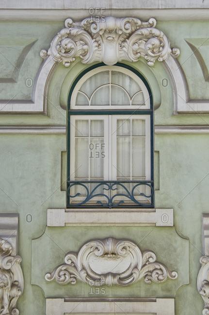 Decorative window detail, Lisbon, Portugal
